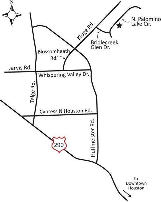 12818 North Palomino Lake, Cypress, TX 77429